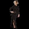 Steampunk Long High-Low Buckle Skirt