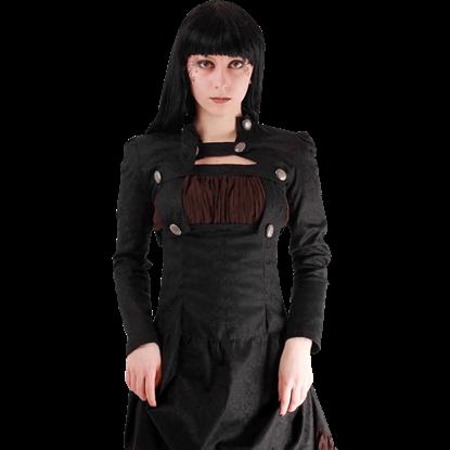 Gothic Brocade Cropped Bolero Jacket