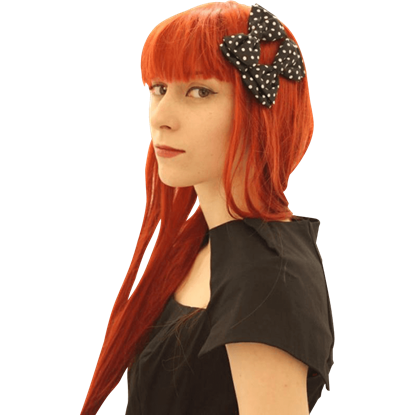 Retro Satin Polka Dot Bow Hairclips