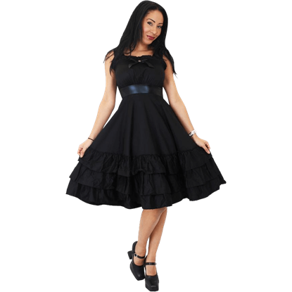 Bow Front Frill Dress