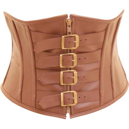 Brown Buckled Steampunk Waspie