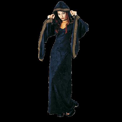 Womens Velvet Gothic Robe