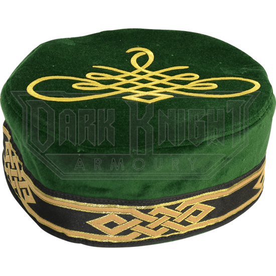 Flemish Pill Hat with Celtic Applique