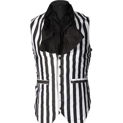 Gothic Striped Long Vest
