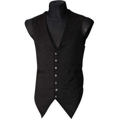 Gothic Black Long Vest