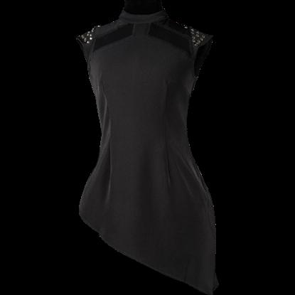 Black Studded Tunic Blouse