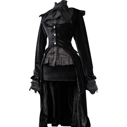 Black Velvet Elegant Aristocrat Coat