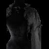 Black Brocade Bolero Jacket