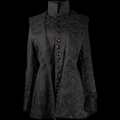 Black Brocade Countess Jacket