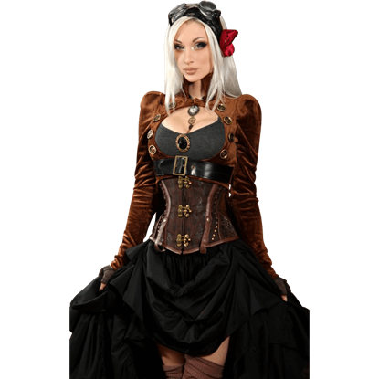 Brown Steampunk Openbust Tailcoat
