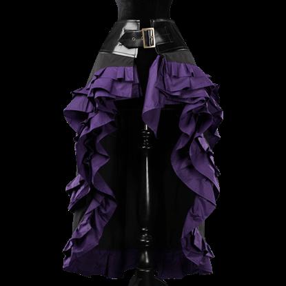 Black and Purple Vex Skirt