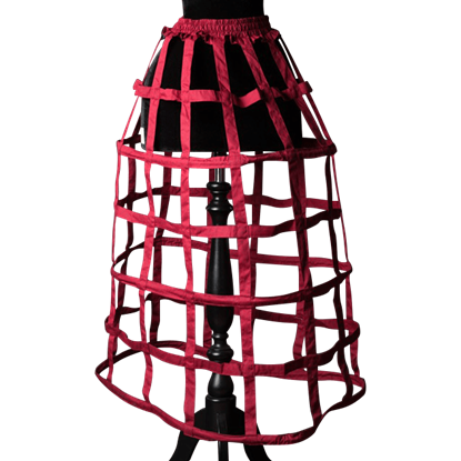 Red Cage Skirt