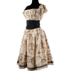 Map Print Gothabilly Dress