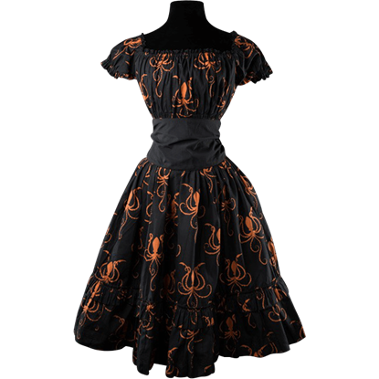 Octopus Print Gothabilly Dress
