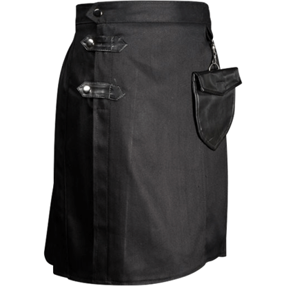 Modern Black Kilt