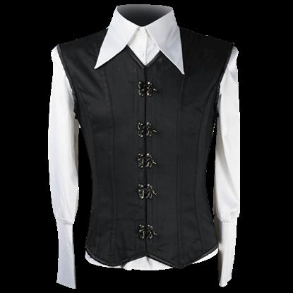 Black Cotton Clasp Shaper Vest