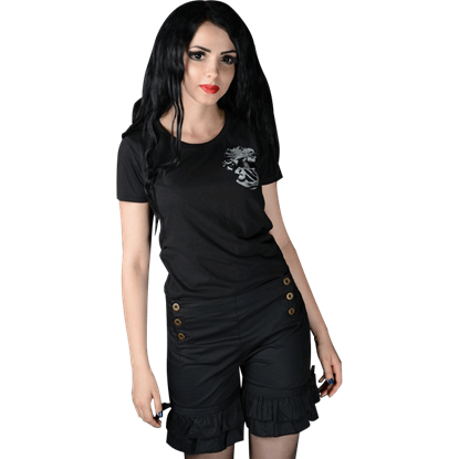 Gothic Black Bloomer Shorts