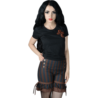 Steampunk Striped Bloomer Shorts