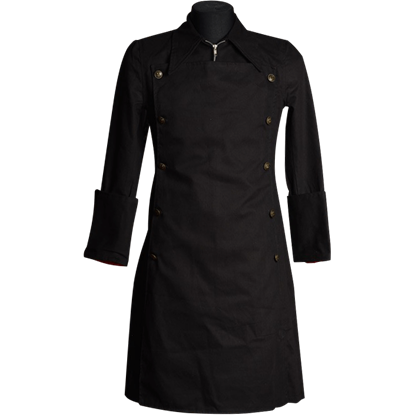 Gothic Black Officer Coat