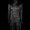 Gothic Black Satin Regal Tailcoat Shirt