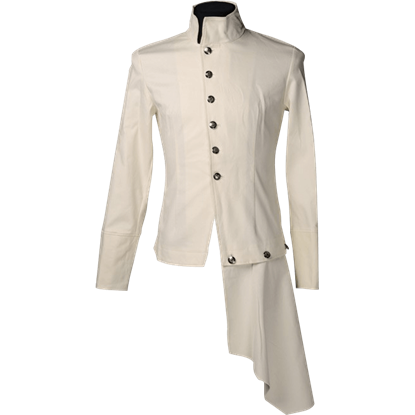 Cream Steampunk Officer Shirt