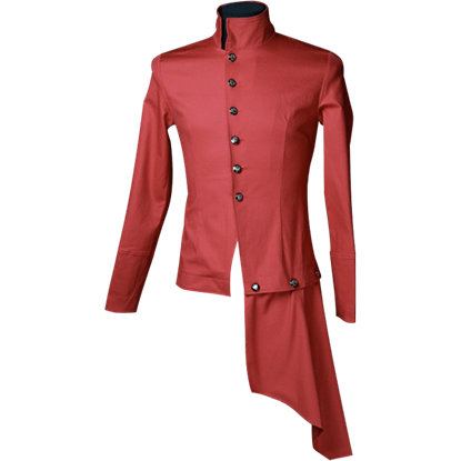 Red Gothic Officer Shirt