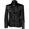 Gothic Black Satin Cravat Shirt