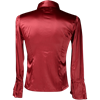 Gothic Mens Red Satin Ruffle Shirt