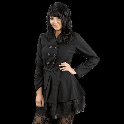 Dark Lady Black Twill Jacket