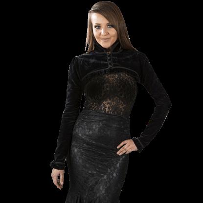 Raven Black Velvet Bolero Jacket