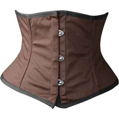 Steampunk Brown Cotton Waist Cincher