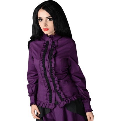 Gothic Purple Victorian Blouse
