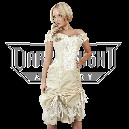 Dita Cream Taffeta Corset Dress