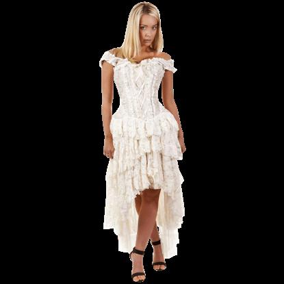 Ophelie Cream Brocade Corset Dress