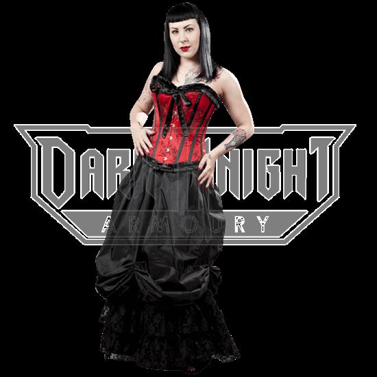 Alexandra Black Taffeta Victorian Skirt