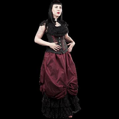 Alexandra Burgundy Taffeta Victorian Skirt