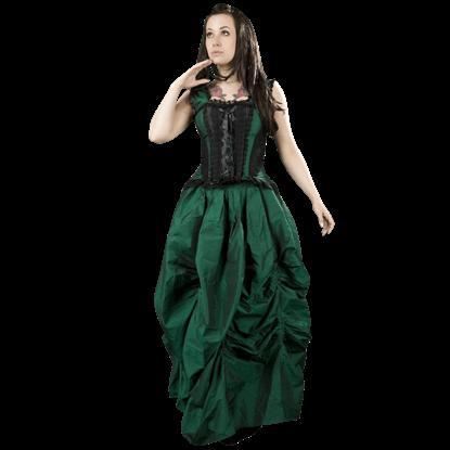 Emerald Taffeta Ball Gown Skirt