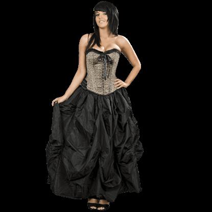 Black Taffeta Ball Gown Skirt