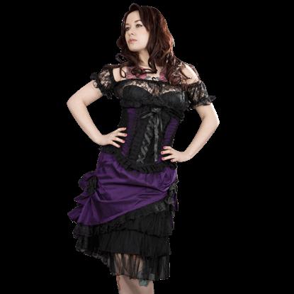 Diva Purple Taffeta Skirt