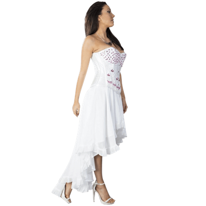 Elizium White Chiffon Skirt