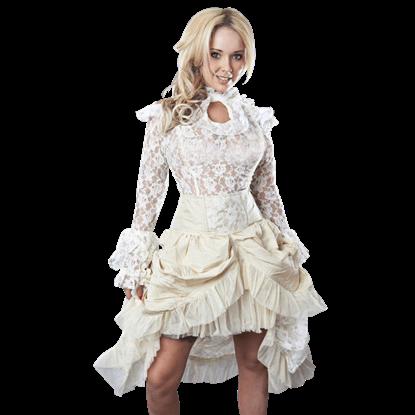 Elvira Cream Taffeta Skirt