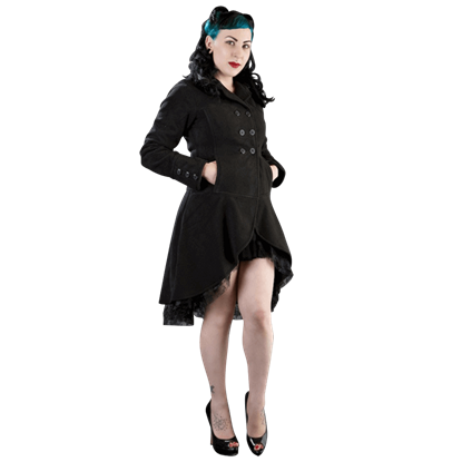 Dark Lady Black Fleece Coat