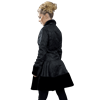 Dark Lady Black Brocade Coat