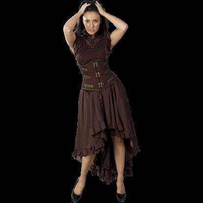 Elizium Brown Chiffon Skirt