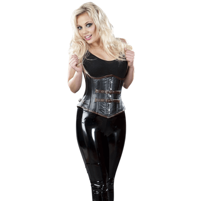 Bernia Black Leather Underbust Corset