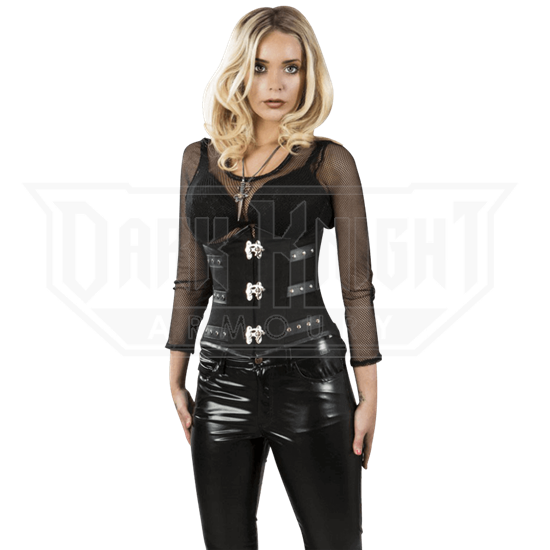 0b8b76c6d7 Black Twill Underbust Corset - BR-0094 from Leather Armor