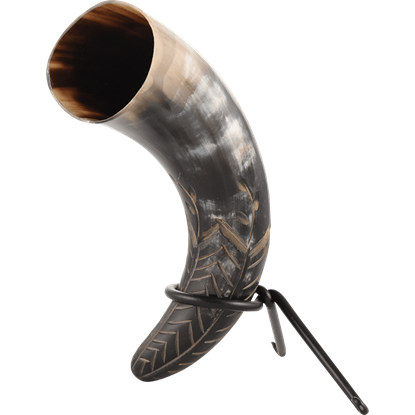Harvest Drinking Horn with Stand
