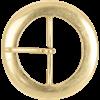 Round Brass Belt Buckle - 2 Inch