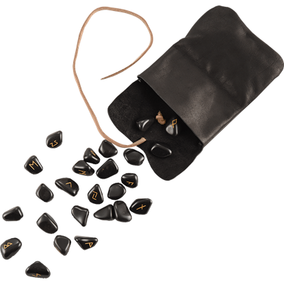 Viking Runes with Leather Pouch