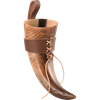 Aslaug Carved Drinking Horn with Holder